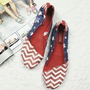 Madlove American Flag Slip On Loafers
